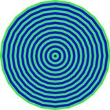 Modèle d'oeil de Taureau Images stock