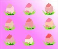 Modèle d'oeufs de pâques Image stock