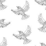 Modèle d'oiseaux de vol illustration de vecteur