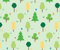 Modèle d'ornement de forêt Photos libres de droits