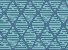 Modèle d'ornement de papier peint avec le losange Main de vecteur dessinant la texture sans couture illustration stock
