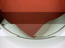 Modèle 3D réaliste d'un récipient en verre et d'un napk texturisé de tissu Photographie stock libre de droits