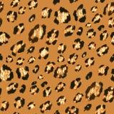 Modèle d'or sans couture de léopard de scintillement illustration de vecteur