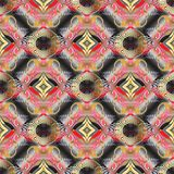 Modèle 3d sans couture floral principal grec Wa de fond de vecteur de Toled illustration libre de droits