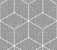 Modèle 3d sans couture géométrique abstrait trompeur noir et blanc Illustration Stock