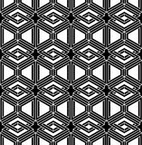 Modèle 3d sans couture géométrique abstrait trompeur noir et blanc Images stock