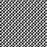 Modèle 3D sans couture géométrique noir et blanc abstrait Illustration de vecteur Illusion optique Effet d'échecs illustration stock