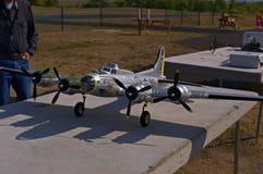 Modèle d'un bombardier B17 Photo stock