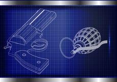 modèle 3d d'un pistolet Photographie stock libre de droits