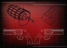 modèle 3d d'un pistolet Images libres de droits