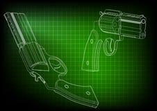 modèle 3d d'un pistolet Photo stock