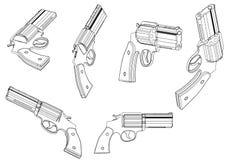 modèle 3d d'un pistolet Photos stock