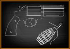 modèle 3d d'un pistolet Photographie stock