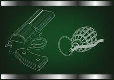 modèle 3d d'un pistolet Photo libre de droits
