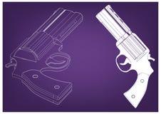 modèle 3d d'un pistolet Image stock