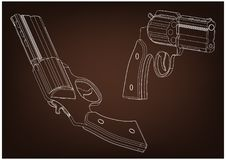 modèle 3d d'un pistolet Image libre de droits
