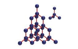 Modèle d'un réseau cristallin de diamant Image libre de droits