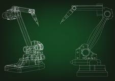 modèle 3d d'un robot de soudure illustration de vecteur