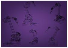 modèle 3d d'un robot de soudure illustration libre de droits