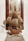 Modèle d'un vieux bateau de navigation Image stock