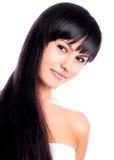 Modèle d'une chevelure foncé de lingerie Photographie stock