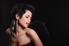 Modèle d'une chevelure foncé de lingerie Photos libres de droits