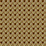 Modèle d'une courbe d'or des tresses avec une rayure noire sur un fond de claret illustration stock