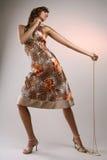 Modèle dans la robe Photographie stock libre de droits