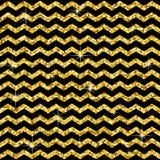 Modèle dans le zigzag Modèle classique de scintillement d'or de chevron Cercles d'or Texture géométrique abstraite Rétro décorati Image stock