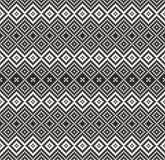 Modèle dans le zigzag - noir et blanc illustration de vecteur