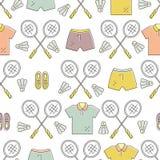 Modèle de badminton Photographie stock