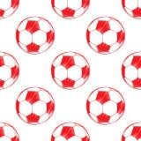 Modèle de ballon de football Image stock