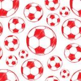 Modèle de ballon de football Images stock