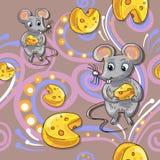 Modèle de bande dessinée de souris Images libres de droits
