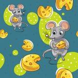Modèle de bande dessinée de souris Photographie stock libre de droits