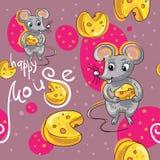 Modèle de bande dessinée de souris Images stock