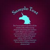 Modèle de bannière de tissu tricoté illustration libre de droits