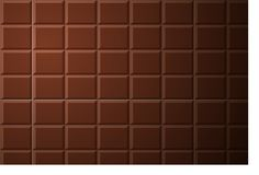 Modèle de barre de chocolat Photo libre de droits