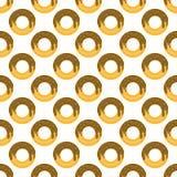 Modèle de beignet sans couture illustration de vecteur