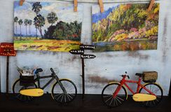 Modèle de bicyclette Photos libres de droits