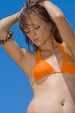 Modèle de bikini Photos stock