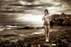 Modèle de bikini Image stock