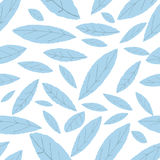 Modèle de bleu de feuille Images stock