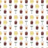 Modèle de boissons Photographie stock