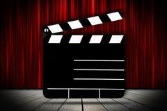 Modèle de bon de cinéma Photos stock