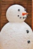 Modèle de bonhomme de neige de Noël Photo stock