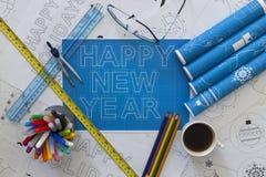 Modèle de bonne année Images libres de droits