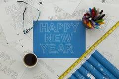 Modèle de bonne année Photo stock