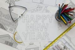 Modèle de bonne année Image stock