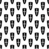 Modèle de bouclier sans couture Photos libres de droits